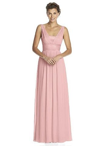 1c8b1cfda6104e Abendkleid aus Chiffon im griechischen Stil in Pastellfarbe Romantisches  langes Abendkleid aus Chiffon im griechischen Stil