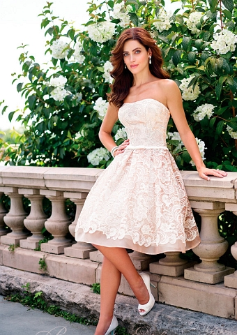 Brautkleid kurz standesamt spitze