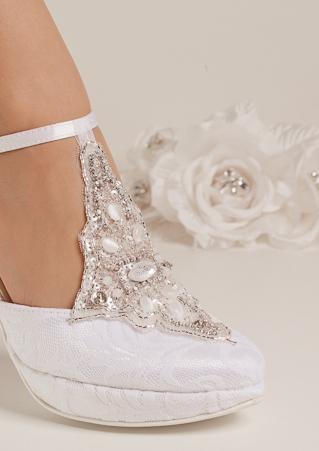 newest 18cf0 b49de Brautschuhe, bequeme Hochzeitsschuhe flach, hoch oder niedrig